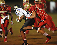 Lafayette High's Colby Terrell (10) makes a tackle vs. Pontotoc in Oxford, Miss. on Friday, September 23, 2011. Lafayette won 48-7 for the school's 22nd consecutive win.