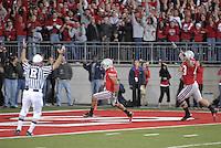 Devon Torrence scores a touchdown in the Ohio State vs Penn State game on Nov. 13, 2010 at Ohio Stadium in Columbus, Ohio.