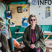 Ivory, 27 years old, from Southern England, since September 2016 is the manager in charge on Lesbos of the Swedish NGO Lighthouse Relief. Here portraited inside the Lighthouse Relief reugee camp, created right in front of the beach, to provide a shelter and first aid to the refugees just arrived