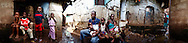 Fatu and Alusine with their 3 daughters at home, Kroo Bay, Freetown, Sierra Leone.
