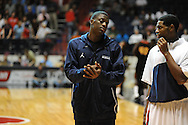 "Ole Miss basketball player Reggie Buckner, who has been suspended indefintely, during the first half at the C.M. ""Tad"" Smith Coliseum in Oxford, Miss. on Monday, November 14, 2011. Buckner was suspended for conduct detrimental to the team, according to head coach Andy Kennedy."