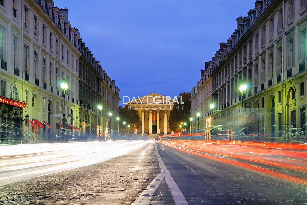 Rush hour on Rue Royale, Paris, France