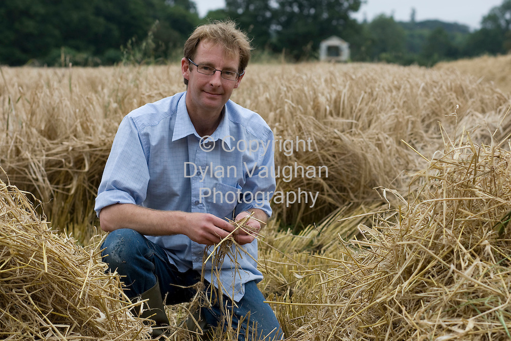 29/8/2008.William Bunbury pictured checking the barley at Lisnavagh House in Carlow.Picture Dylan Vaughan.