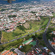 view from a Nature Air flight over san Jose, Costa Rica.