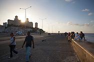 Youth at Malecon-Havana, Cuba
