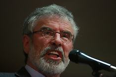MAY 05 2014 Gerry Adams speaks during a European Election Rally