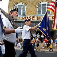 The 2011 Memorial Day parade was held Monday May 30, running down Main Street in Wild Rose, Wisconsin.