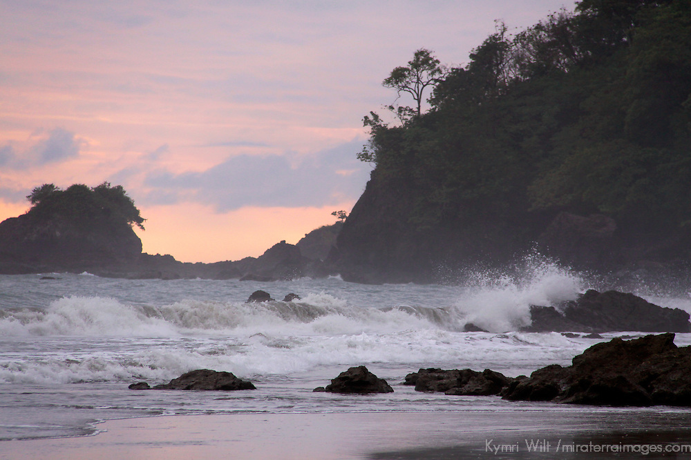 Central America, Costa Rica, Manuel Antonio.  Dramatic surfscape.