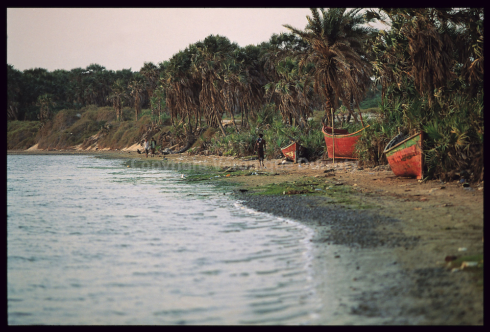 Le bord de mer a Khawkah au Yemen