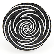 Open Bowl; Black and white zigzag