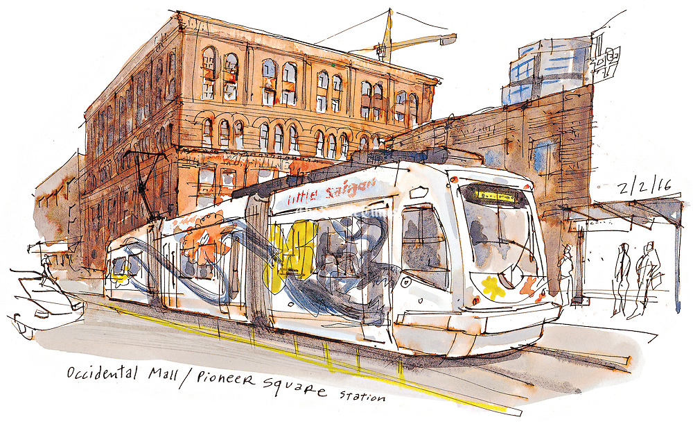 After years of anticipation, the 2.5-mile streetcar line connecting Capitol Hill and Pioneer Square is finally up and running. (Gabriel Campanario / The Seattle Times)