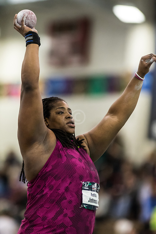 USATF Indoor Track & Field Championships: womens shot put, Felisha Johnson, Nike