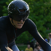 Top ranked bike racers from the US and the world ride through the Monkey Hill course during day two of The Wilmington Grand Prix Monkey Hill Time Trials Friday, May. 17, 2013 at Brandywine Park in Wilmington Del.