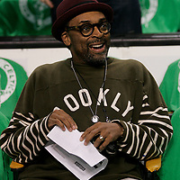Spike Lee at the TD Garden in Boston, Massachusetts on October 26, 2010.   Photo by Matthew Healey