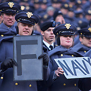 Army Cadet during 111th meeting of Army & Navy. Navy set the tone early in the game as Navy defeats Army 31-17 in front of 69,223 at  Lincoln Financial Field in Philadelphia Pennsylvania