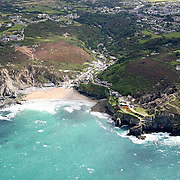 Aerial shot of St Agnes, Cornwall, UK