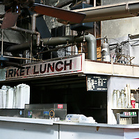 """The ruins of Market Lunch, an Eastern Market icon and home of the """"Blue Bucks."""""""