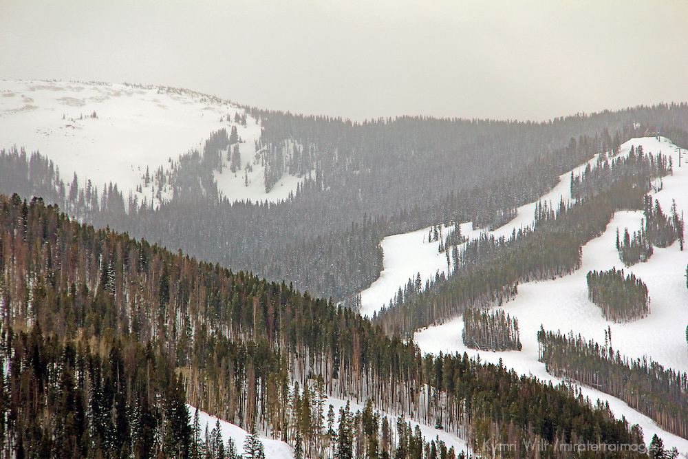 USA, Colorado, Beaver Creek. Scenic snowscape of the Colorado mountains in winter.