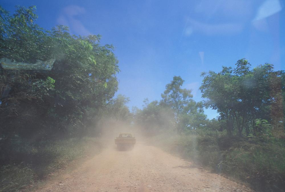 Australia, Western Australia, Dusty road near the Outback town of Kununurra