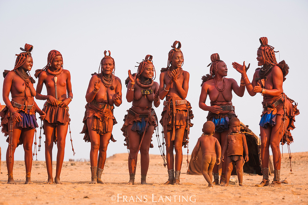 Himba women dancing, Kaokoland, Namibia