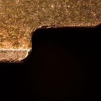 Macro image of a key edge.
