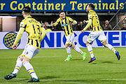 ROTTERDAM - Sparta Rotterdam - Vitesse , Voetbal , Halve Finale KNVB Beker , Seizoen 2016/2017 , Sparta stadion het Kasteel , 01-03-2017 ,  eindstand 1-2 , Vitesse speler Milot Rashica (m) viert samen met doelpunten maker Vitesse speler Lewis Baker (r) de 0-2