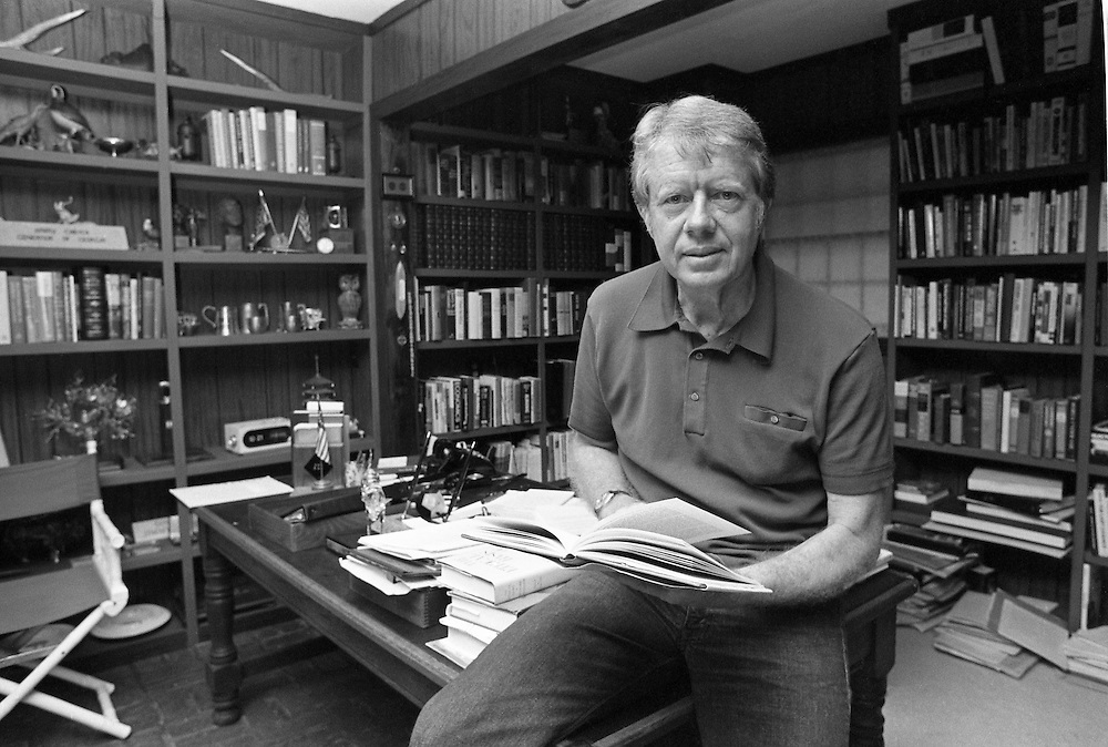 President elect Jimmy Carter in his study at his residence in Plains, Georgia - To license this image, click on the shopping cart below -