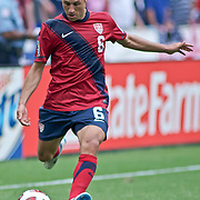 United States Defender Steve Cherundolo #6 puts himself into scoring position late in the second half. The United State would go on to to defeat Jamaica 2-0 in the concacaf gold cup quarterfinals Sunday, June 19, 2011 at RFK Stadium in Washington DC.