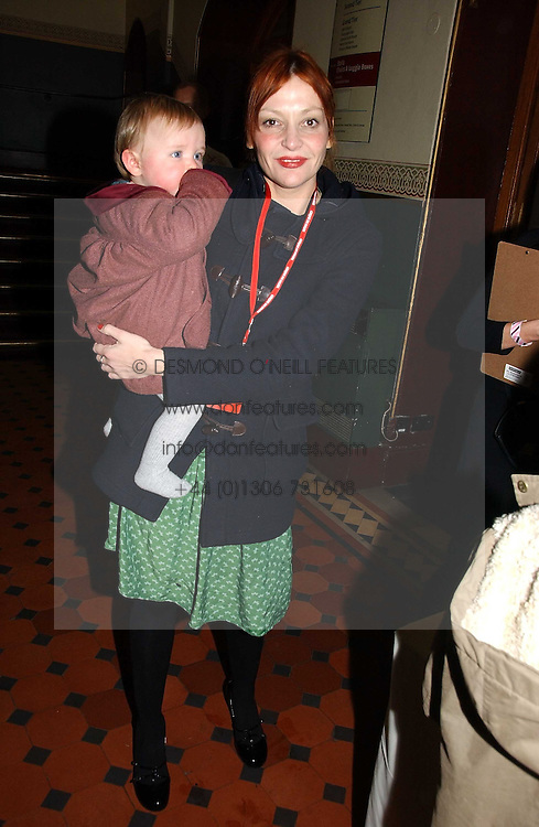 PEARL LOWE and her daughter BEATRIX at the opening night of Cirque Du Soleil's 'Alegria' held at the Royal Albert, London on 5th January 2007.<br /><br />NON EXCLUSIVE - WORLD RIGHTS