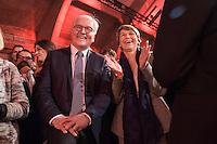 11 FEB 2017, BERLIN/GERMANY:<br /> Frank-Walter Steinmeier (L), SPD, Kandidat fuer das Amt des Bundespraesidenten, und Elke Buedenbender (R), Ehefrau von Steinmeier, waehrend einem Empfang der SPD anl. der Bundesversammlung, Westhafen Event und Convention Center<br />  IMAGE: 20170211-03-035<br /> KEYWORDS: Elke B&uuml;denbender