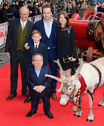 Jim Broadbent, Rafe Spall, Jodie Whittaker, Kit Connor and Warwick Davis attend The UK Premiere of Get Santa at Vue West End, Leicester Square, London on Sunday 30th November 2014