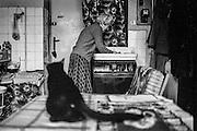Inside the flat of Mrs. Stojankova at Tachovske Namesti in Zizkov.