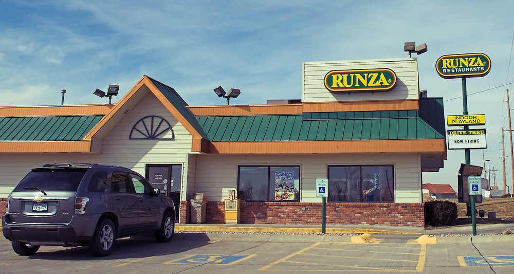 Runza Restaurants have long been a Nebraska institution, serving their Runza stuffed sandwiches in all corners of the state. This particular outlet is located in the far southwest corner of the state, in McCook, NE.
