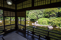 Yusentei Teahouse and Garden - Yusentei was built as a vacation house by a feudal lord of Fukuoka in 1754 and was reopened by the city of Fukuoka in 1981 as a historical park.  This  garden is constructed in the chisen kaiyu-shiki  style, that is a strolling garden centered on a scenic pond. The paths of the garden wind through thick trees and mossy rocks, up miniature hills and along the shore of the koi pond, immersing visitors in a uniquely Japanese landscape garden atmosphere. At the large teahouse overlooking the pond, visitors can enjoy matcha tea at the teahouse overlooking the pond.  The garden is named after a poem by Kuze Michinatsu, which expresses the coolness of the spring water in the summer and the feeling of retreat at the Jyosuian and Shozanan teahouses.