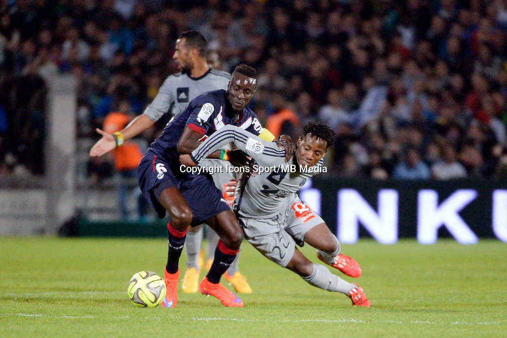 Lamine SANE / Michy BATSHUAYI - 12.04.2015 - Bordeaux / Marseille - 32eme journee de Ligue 1 <br />Photo : Caroline Blumberg / Icon Sport *** Local Caption ***