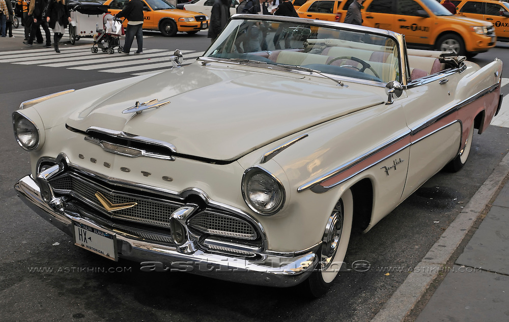 1956 DeSoto Convertible in New York City.