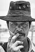 Myanmar. Gentleman at Cattle Market. Shan State.