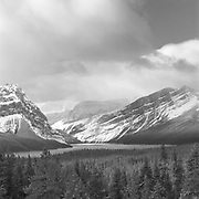 Hector Lake In Winter, AB
