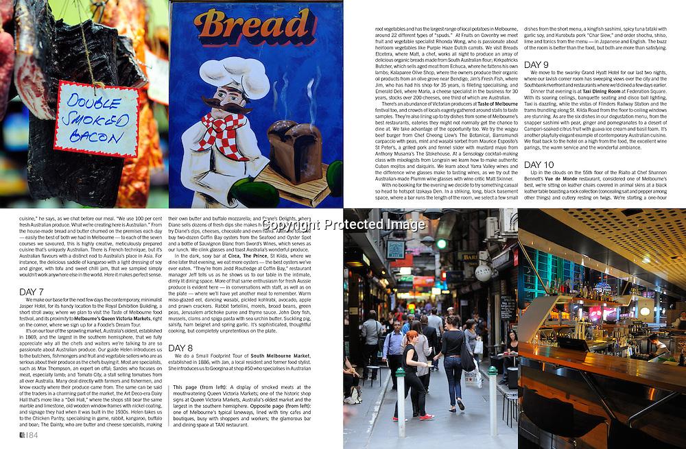 Lifestyle+Travel Magazine feature on Melbourne's food scene.