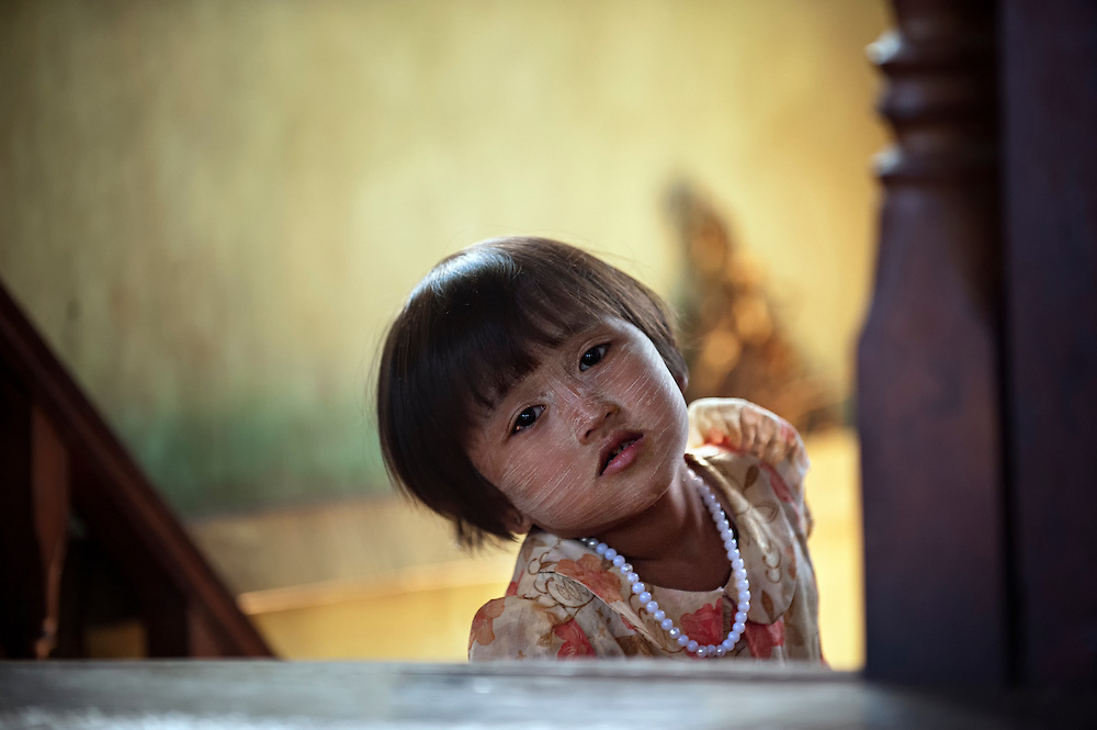 A young girl at home in the northern Shan state, Myanmar.