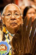 Gathering of Nations Pow Wow, Albuquerque, New Mexico, elder,  traditional dancer