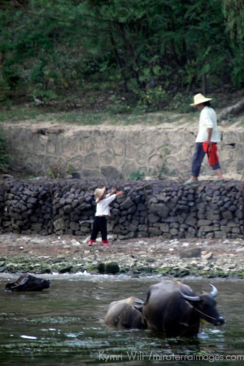 Asia, China, Guilin. Rural Life on Li River.