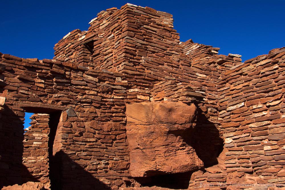 North America, USA, Arizona, Wupatki National Monument. Wupatki Pueblo, the largest dwelling in the region.