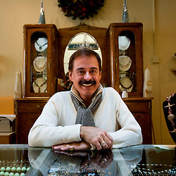 121010       Brian Leddy.John Beeman, owner of Beeman Jewelers, opened his business on Oct. 1 of this year. Beeman sells elegant and custom jewelry in his cozy downtown shop.