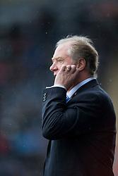 Cowdenbeath's manager Jimmy Nicholl.<br /> Half time : Falkirk 4 v 0 Cowdenbeath, Scottish Championship game played at The Falkirk Stadium, 25/10/2014.