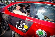 4-7-2015 UTRECHT - Koning Willem Alexander  is zaterdag 4 juli 2015 aanwezig bij Le Grand D&eacute;part van de Tour de France in Utrecht. Tour de France 2015 in Utrecht . Koning Willem-Alexander met winnaar Dennis Rohan op het podium van de tijdrit tijdens de Grand Depart van de Tour de France. met Joop zoetemelk en Koning Willem-Alexander met Joop Zoetemelk (L) en Jan Janssen tijdens de Grand Depart van de Tour de France. en Jan van Zanen . COPYRIGHT ROBIN UTRECHT <br /> 4-7-2015 UTRECHT - King Willem Alexander is Saturday, July 4th, 2015 attends the Le Grand D&eacute;part of the Tour de France in Utrecht. Tour de France 2015 in Utrecht. King Willem-Alexander winner with Dennis Rohan on the stage of the trial during the Grand Depart of the Tour de France.COPYRIGHT ROBIN UTRECHT
