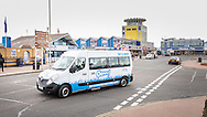 EMBARGOED 00:01 Wednesday 22nd February; 2017.<br /> <br /> An Oomph! minibus pictured on the seafront in Southsea, Hampshire. 100,000s of old and vulnerable people will enjoy new Out and About excursions after Oomph! announces nationwide expansion plans today (Wednesday 22nd February).<br /> Out and About tackles a lack of outings for people in care settings due to social care funding cuts. Innovative model offers economies of scale on excursion planning, transport and conductors across care settings in an area.<br /> 80 Out and About minibuses will hit the road in first year thanks to &pound;1.5million investment from Mike Parsons, Care and Wellbeing Fund and Nesta Impact Investments.<br /> Photograph by Christopher Ison &copy;<br /> 07544044177<br /> chris@christopherison.com<br /> www.christopherison.com