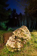 Meteorite Stone on the 7Stanes trail, Glentress, Tweed Valley, Forestry Commission Scotland