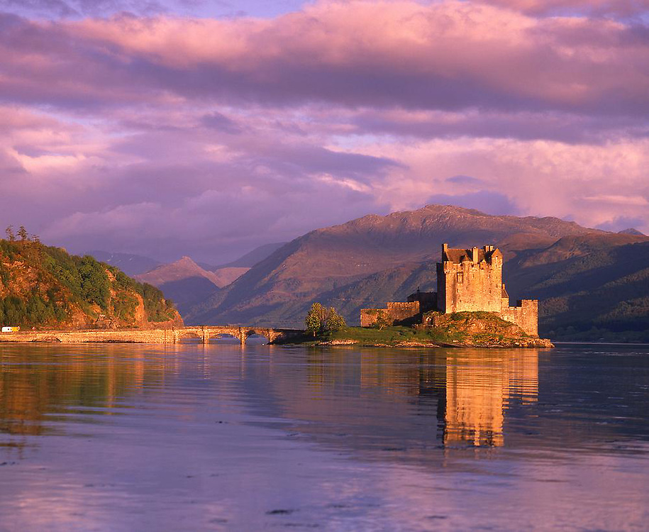 Evening light over Eilean Donan Castle, Loch Duich, N/W Highlands