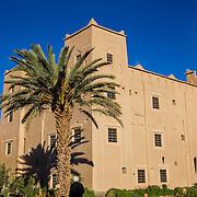 Kasbah Ait Ben Damiette, exterior, hotel, near Skoura, Morocco.